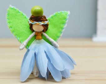 Miniature Fairy Doll, Flowers Fairies, Waldorf Fairy Doll