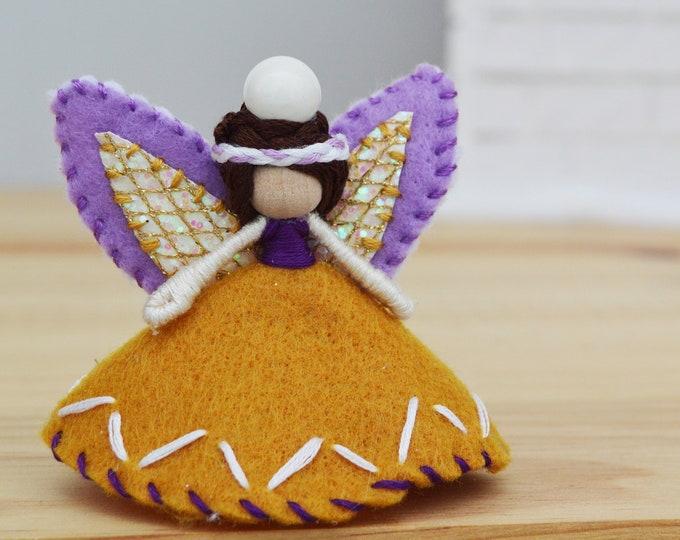 Waldorf Fairy Doll, Felt Fairies, Miniature Doll
