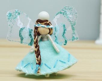 Waldorf Fairy Doll, Miniature Fairies, Flower Fairy Doll