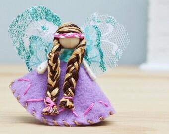 Miniature Fairy Doll, Felt Fairies, Felt Fairy Doll, Small Fairy