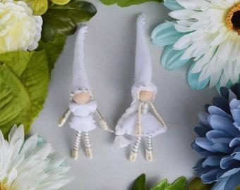 Felt Elf Couple, Miniature Fairy Doll, Waldor Fairies, Felt Elf Doll