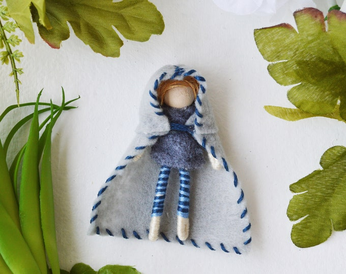 Felt Elf Doll, Waldorf Boy Doll, Felt Fairy Doll, Felt Fairies, Miniature Fairy Doll