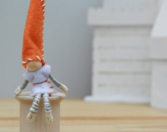Felt Boy Fairy Doll, Waldorf Elf Doll, Felt Fairies, Miniature Fairy Doll