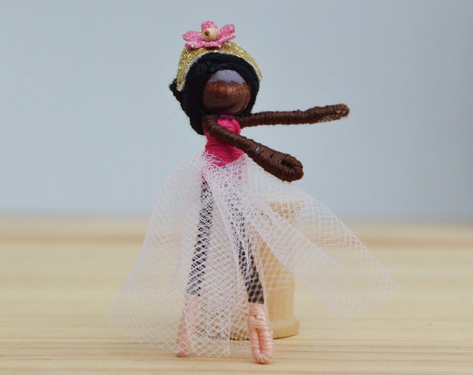 Ballet Doll in Pink Tulle, a Perfect Gift for a Dancer, Ballet, or Dance Recital Gift