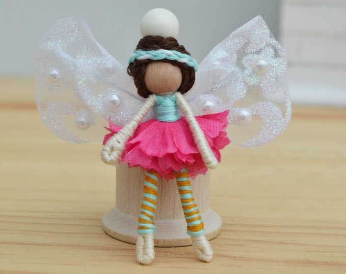 Miniature Fairy Doll in Pink, a Perfect Waldorf Flower Fairy Doll Gift