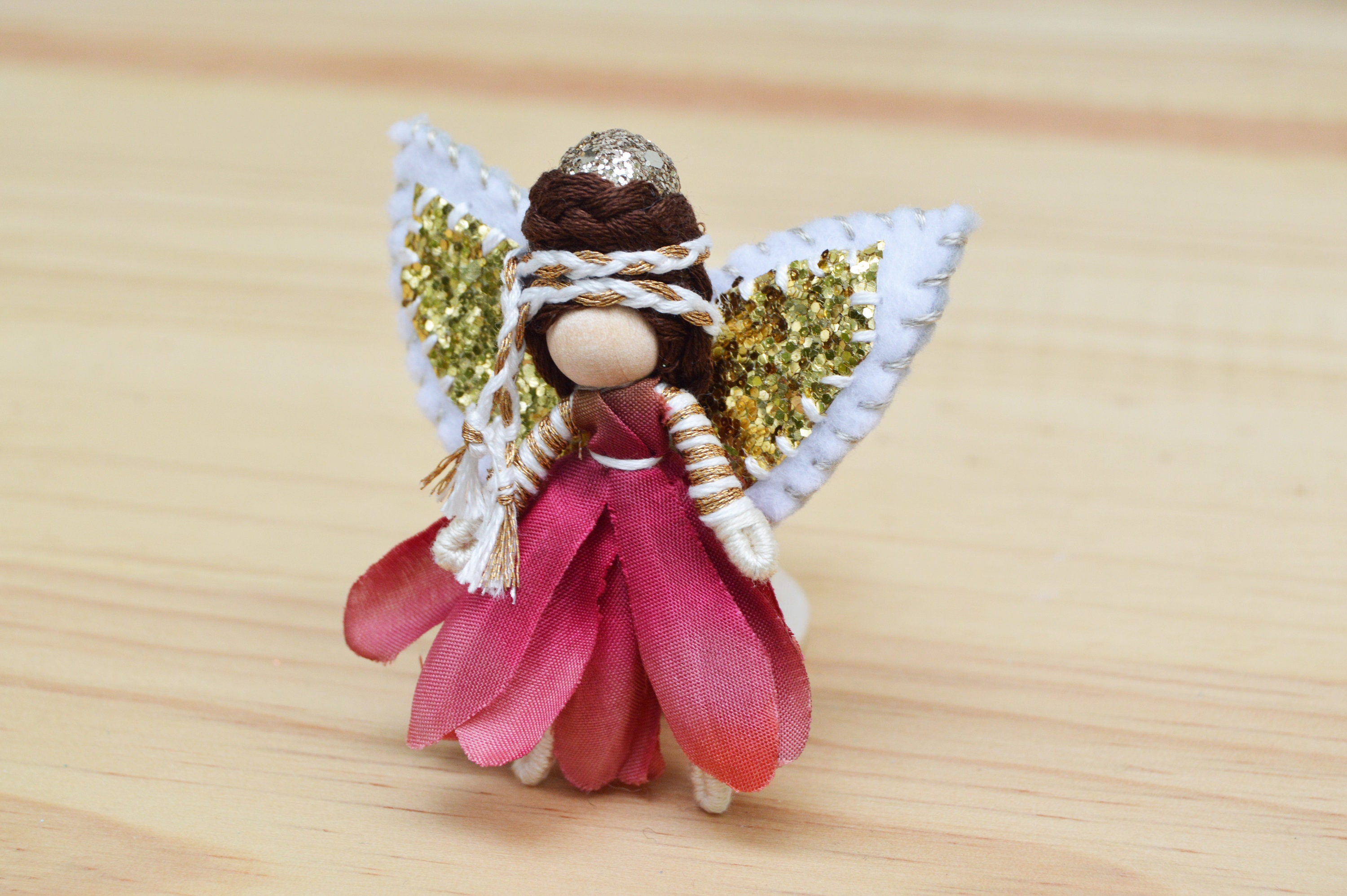 Waldorf Fairy Doll Miniature Fairies Flower Fairy Doll