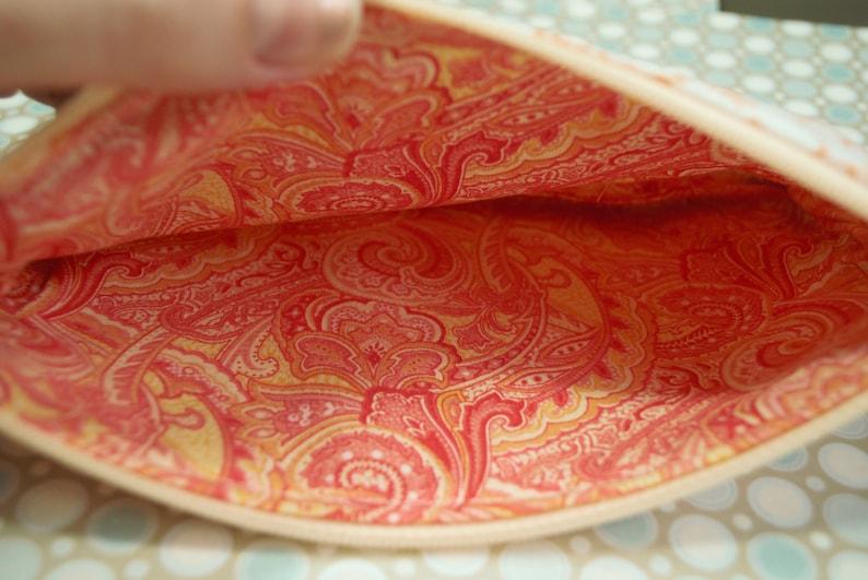 medium Plumeria Orange zipper pouch
