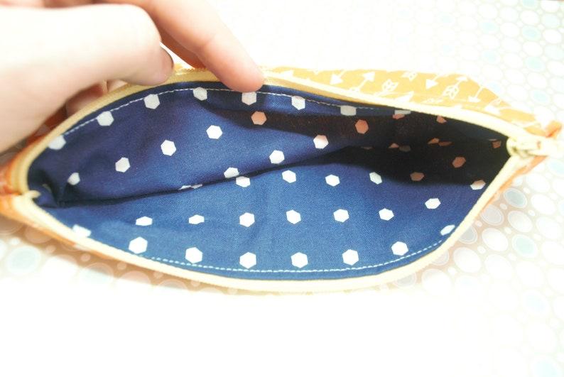 Large Orange arrows zipper pouch