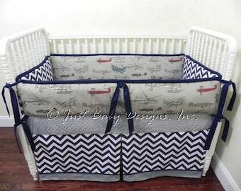 Custom Baby Bedding Set Zachary Boy Baby Bedding Vintage
