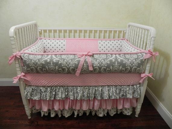 Girl Baby Bedding Set Lila, Light Pink Crib Bedding Set