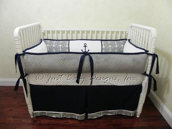 Nautical Baby Bedding Set Killian Boy Baby Bedding