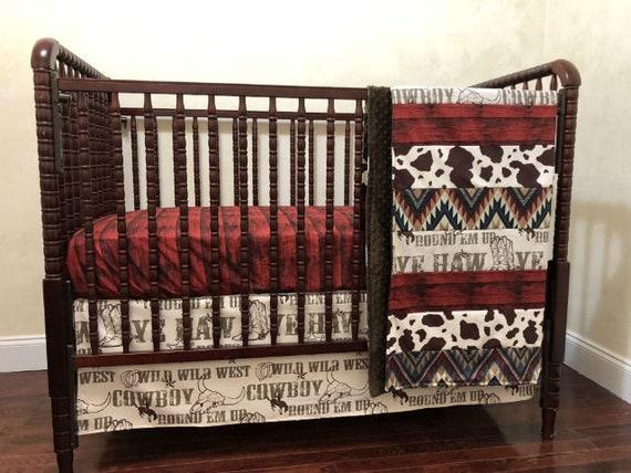 Cowboy Baby Bedding Western Crib Bedding Boy Baby Bedding ...