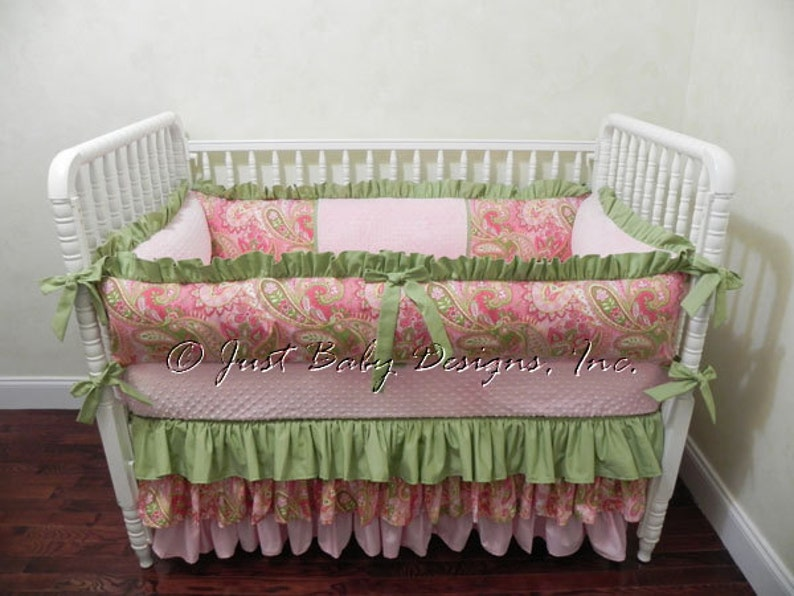 Baby Crib Bedding Set Savannah Girl Baby Bedding Pink And Etsy