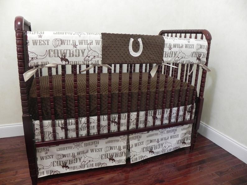 Cowboy Baby Crib Bedding Set Stetson, Western Baby Bedding Crib Sets