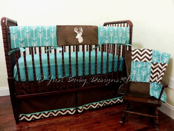 deer crib bedding set boy baby bedding crib rail cover etsy 10148 | il 570xn 920644189 3944