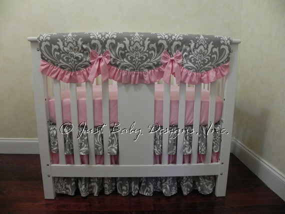 Baby Girl Mini Crib Bedding Girl Mini Crib Baby Bedding Etsy