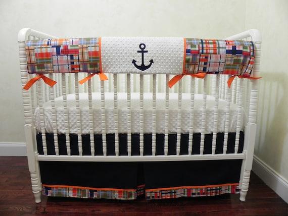 Nautical Baby Bedding Set Damian, Sailboat Baby Bedding Set