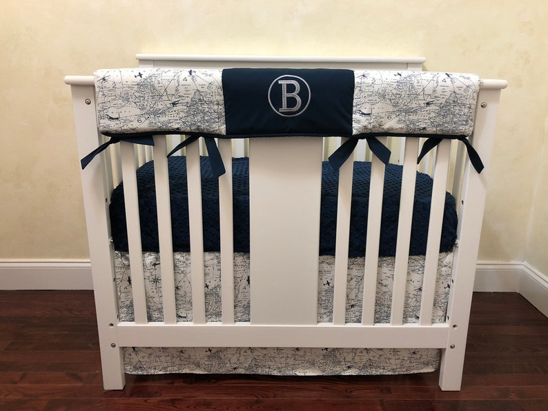 BabyBeddingbyJBD - Boy Mini Crib Bedding Set