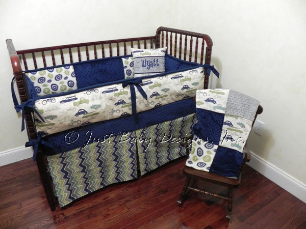 Custom Baby Bedding Set Wyatt Boy Crib Bedding Navy Crib