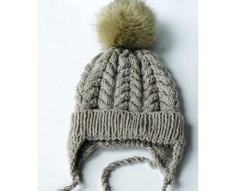 28260f8cbacb6 Pom pom ears hat