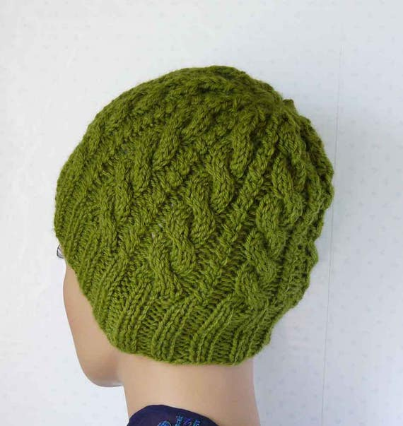 Knitting Pattern Knitted Cable Beanie Womens Braided Knit Hats