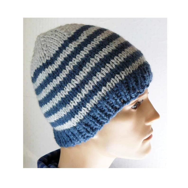 14679505dfc Knitting PATTERN Knit Beanie Pattern Mens Knit Hat Pattern