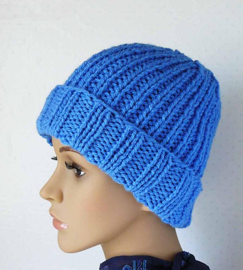 Knitting PATTERN Knit Beanie Pattern Womens Knit Hats   Etsy