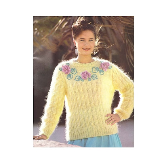 Knitting Patterns Vintage Pdf Patterns Womens Cable Knit Etsy
