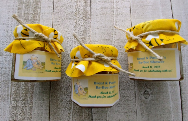 Winnie The Pooh Honey Jar Favors Baby Shower Favors Etsy