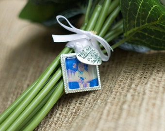 Wedding Bouquet Memorial Photo Charm, Wedding Bouquet Charm- PICTURE PRINTING INCLUDED