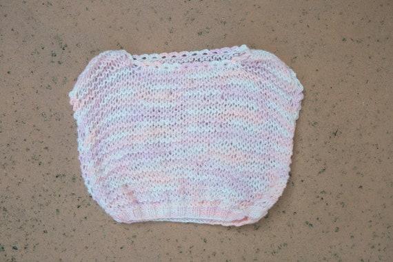 90's Vintage Handmade Crochet Mesh Crop Top Sleeve