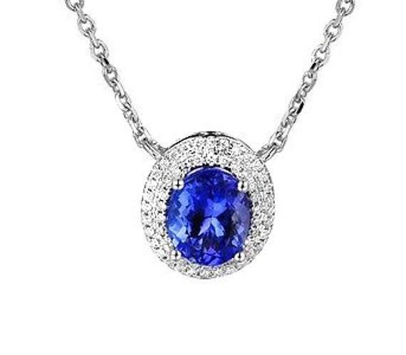 Beautiful Tanzanite: Beautiful Tanzanite And Diamond Designer Necklace