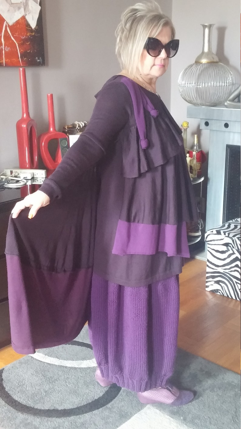 Lagenlook Upcycled Bohemian Asymmetrical Tunic