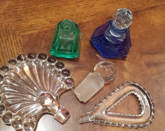 Vintage Perfume Bottles and Stoppers