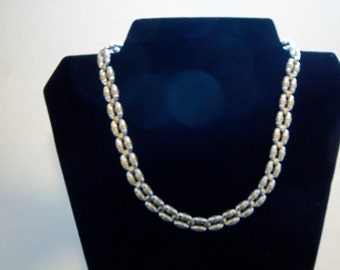 Sterling and gold necklace
