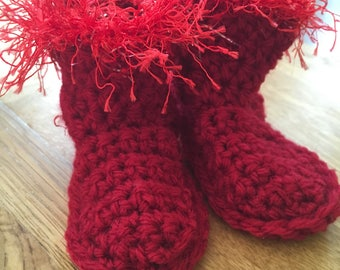 Christmas Baby Boots
