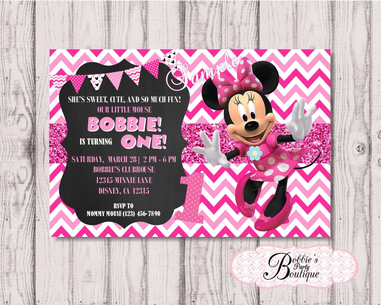 Invitación del cumpleaños de Minnie Mouse, Minnie Mouse invitación, DIY, imprimible, pizarra invitación, invitación de cumpleaños, invitación ...