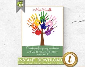 handprint tree etsy