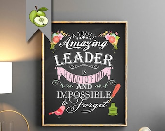 Leader Appreciation Week Retirement Gift Female Boss A Truly Amazing Is Hard To Find Printable
