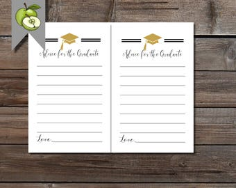 picture relating to Free Printable Graduation Advice Cards known as Tips printable Etsy
