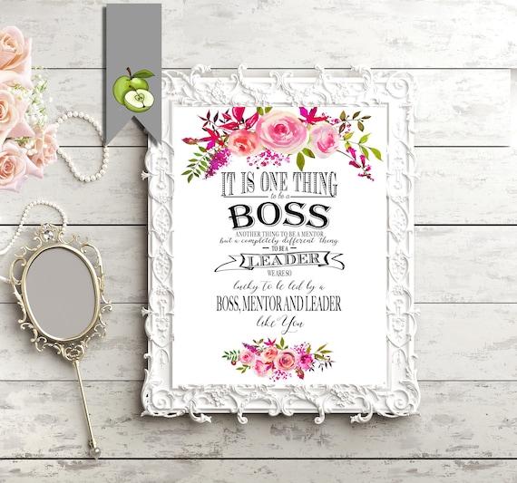 Printable Boss Appreciation Day Gift Boss Week Boss Card Etsy