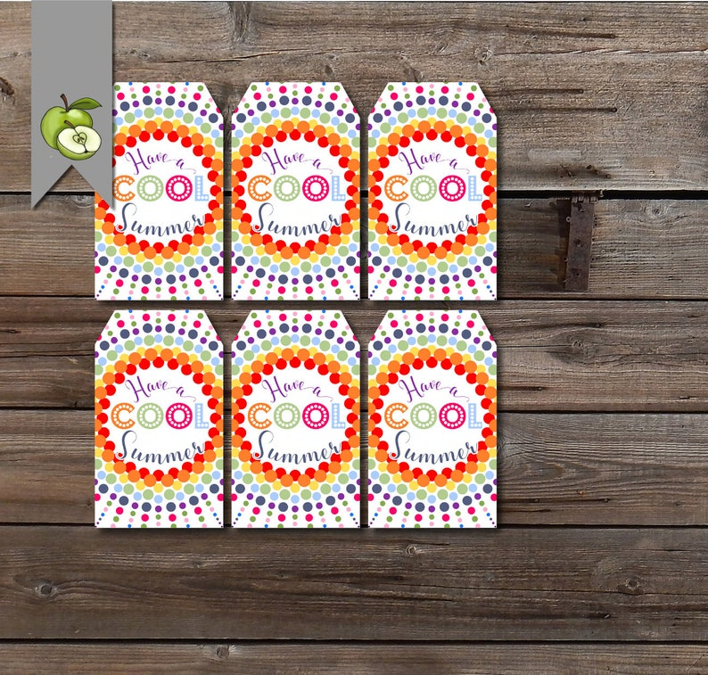 cool summer tag sunglasses student gift tag room mom end of year ice pop class gift teacher printable teacher tag class gift