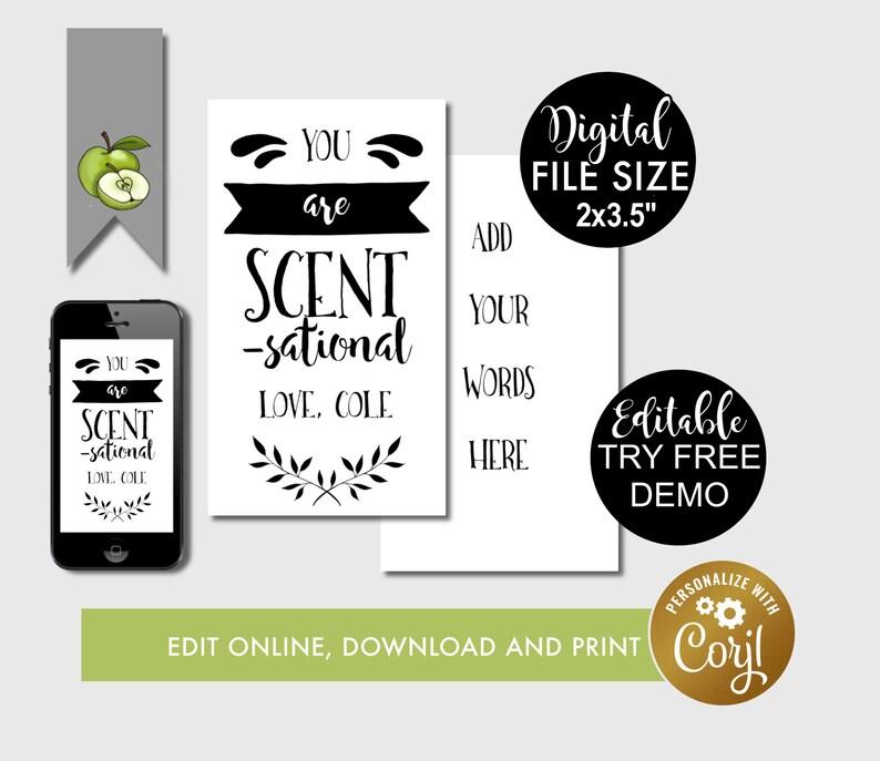 Scent sational editable teacher thank you perfume gift tags