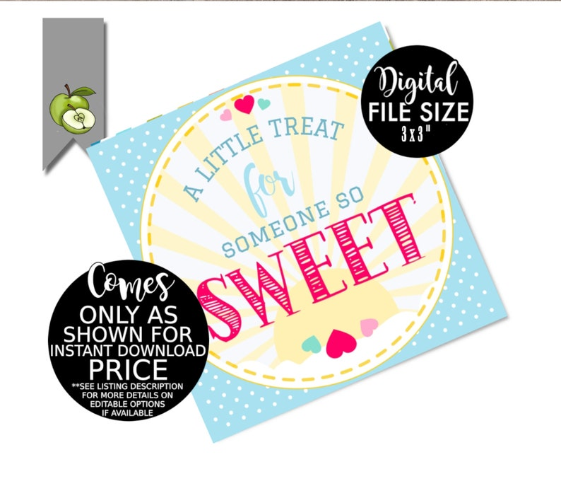meet the teacher tag candy back to school A little treat for someone so sweet tag Birthday gift tags INSTANT DOWNLOAD sweet gift tag