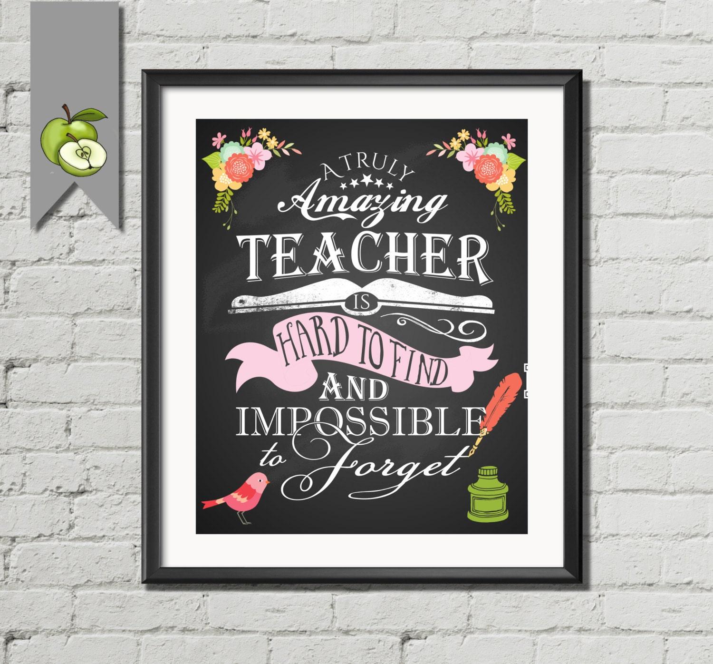 Lehrer Wertschätzung Lehrer-Geschenk ein wirklich | Etsy