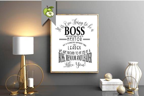 Boss Printable Thank You Gift Boss Week Day Boss Card Thank Etsy