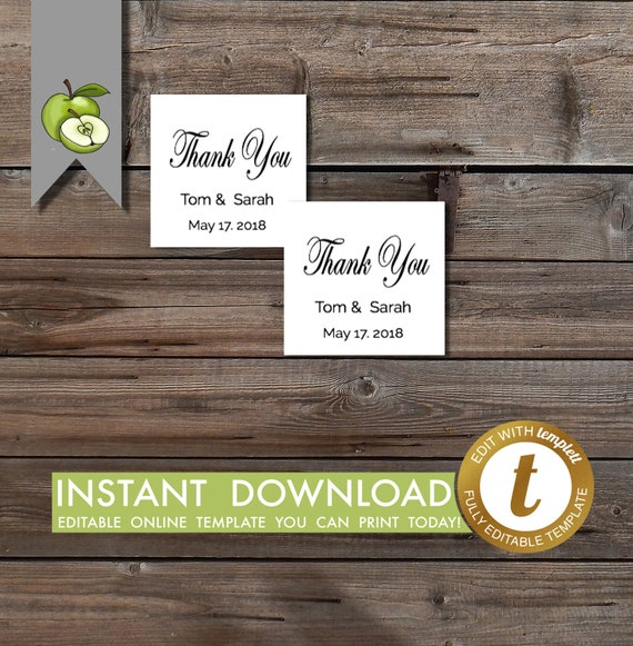 wedding favors tags editable create your own wedding tags etsy