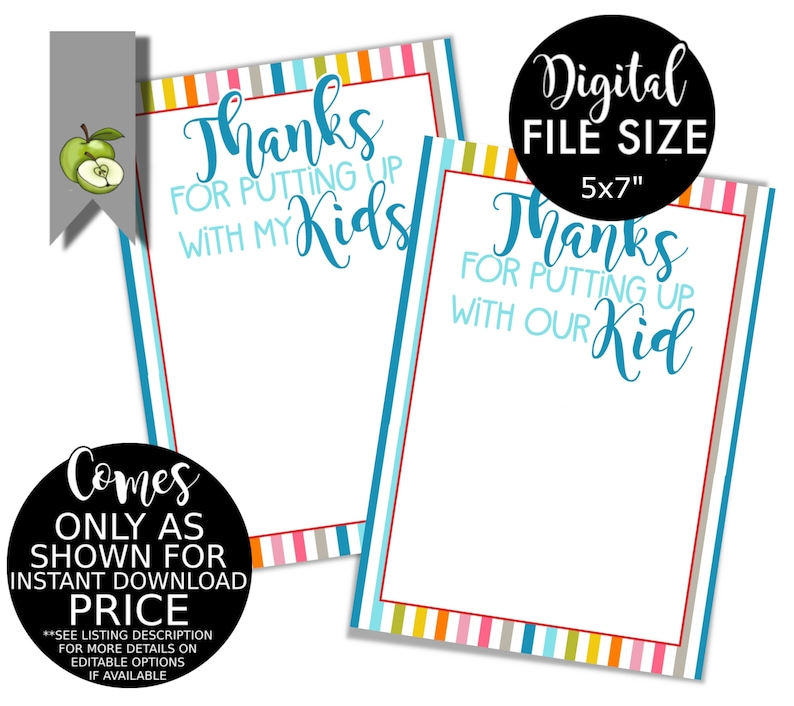 sports voucher thanks for putting up with my kid coach digital download shopping funny gift card holder teacher gift card caregiver