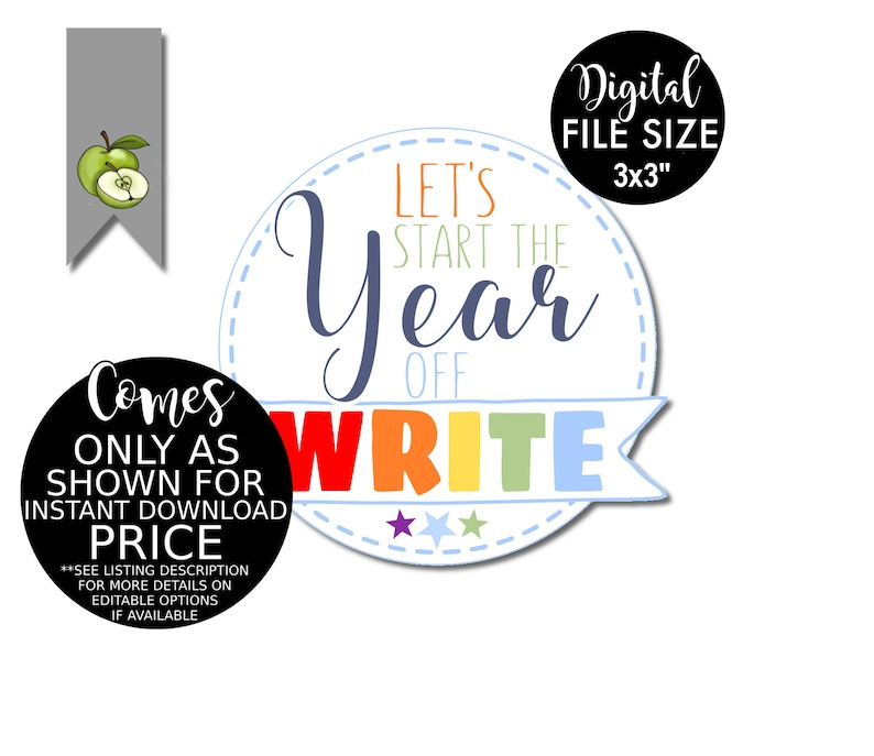 let's start the year write back to school pencil favor image 0