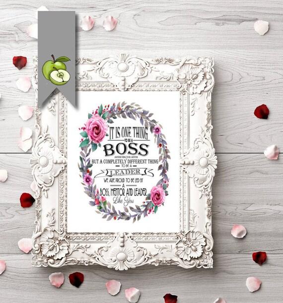 Boss Appreciation Day Boss Week Boss Poster Boss Gift Etsy